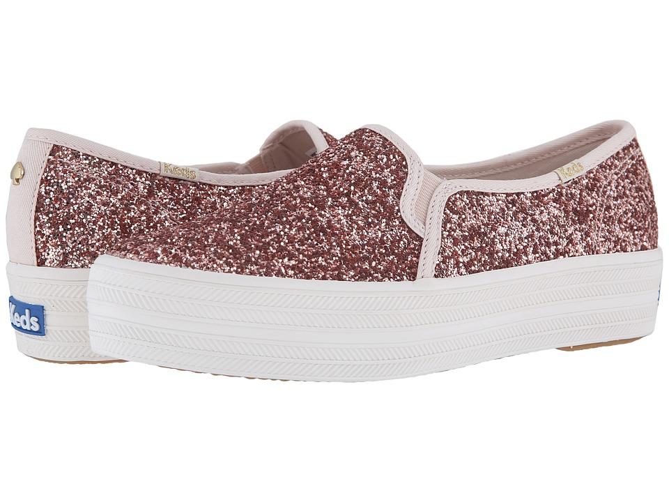 Keds x kate spade new york Triple Decker KS Glitter (Rose Gold) Women's Shoes