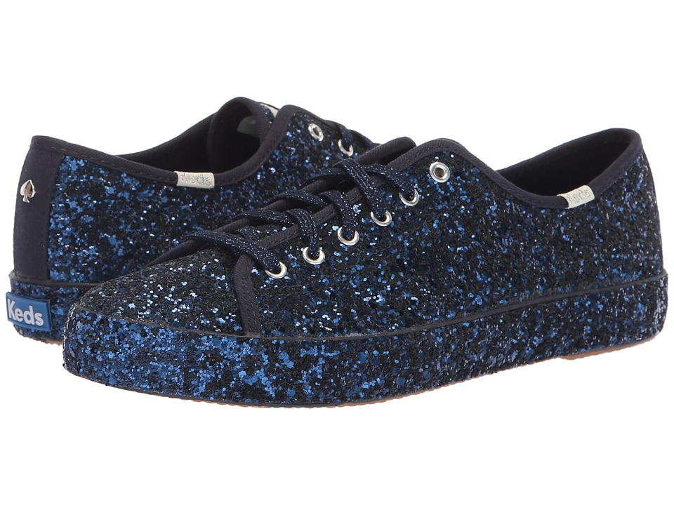 Keds x kate spade new york Kickstart KS All Over Glitter (Navy) Women's Shoes