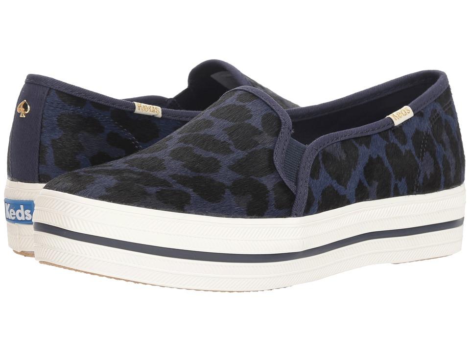 Keds x kate spade new york Triple Decker KS Leopard (Blue) Women's Shoes