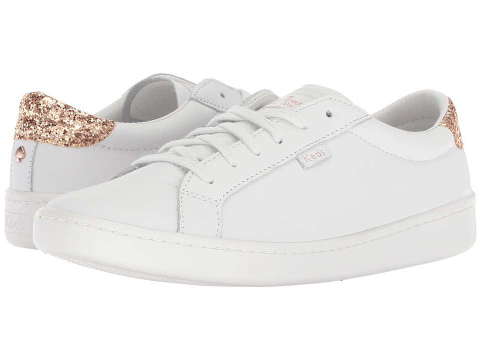 Keds x kate spade new york Ace KS Glitter (White/Rose Ink) Women's Shoes