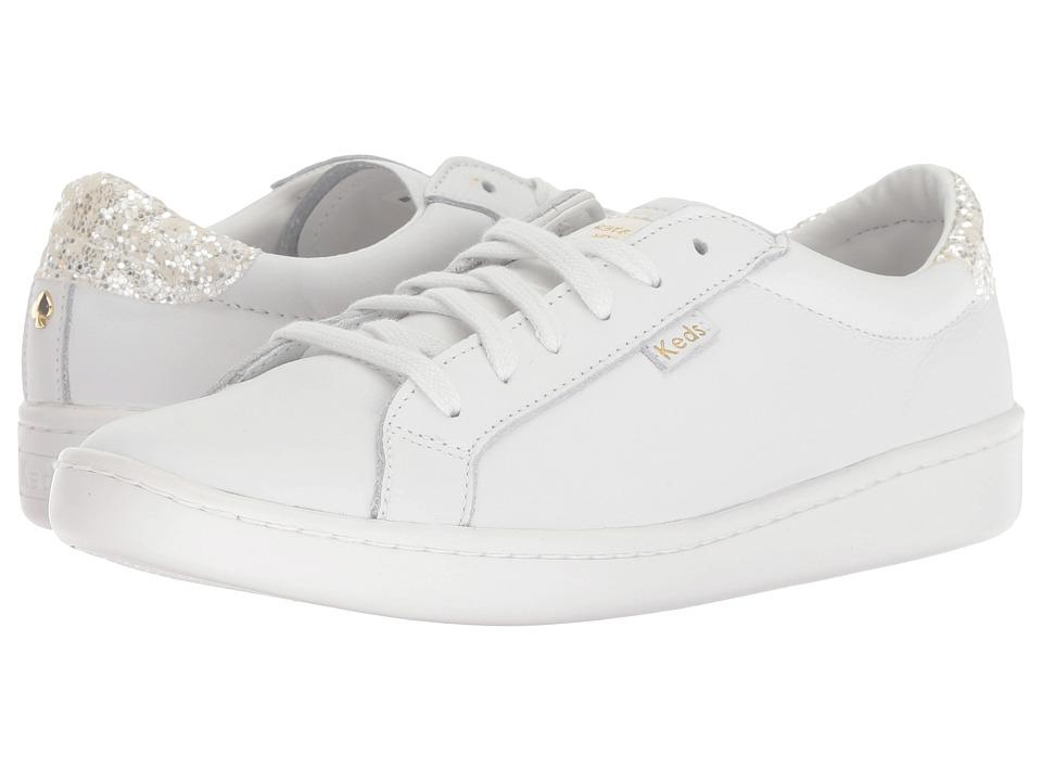 Keds x kate spade new york Ace KS Glitter (White/Cream) Women's Shoes