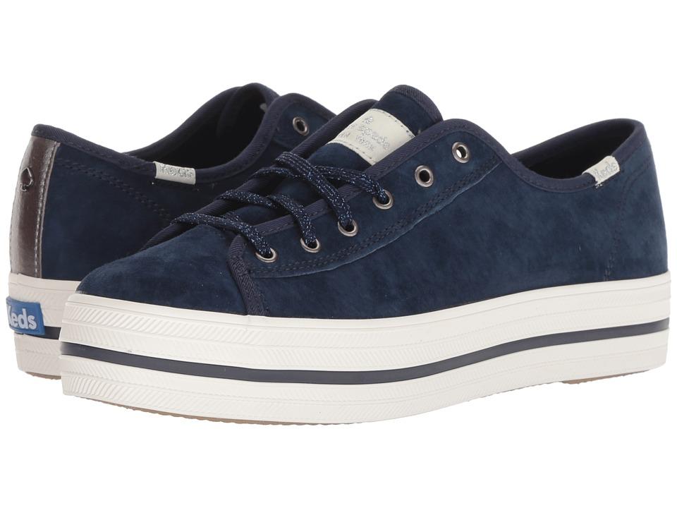 Keds x kate spade new york Triple Kick KS Suede (Navy) Women's Shoes