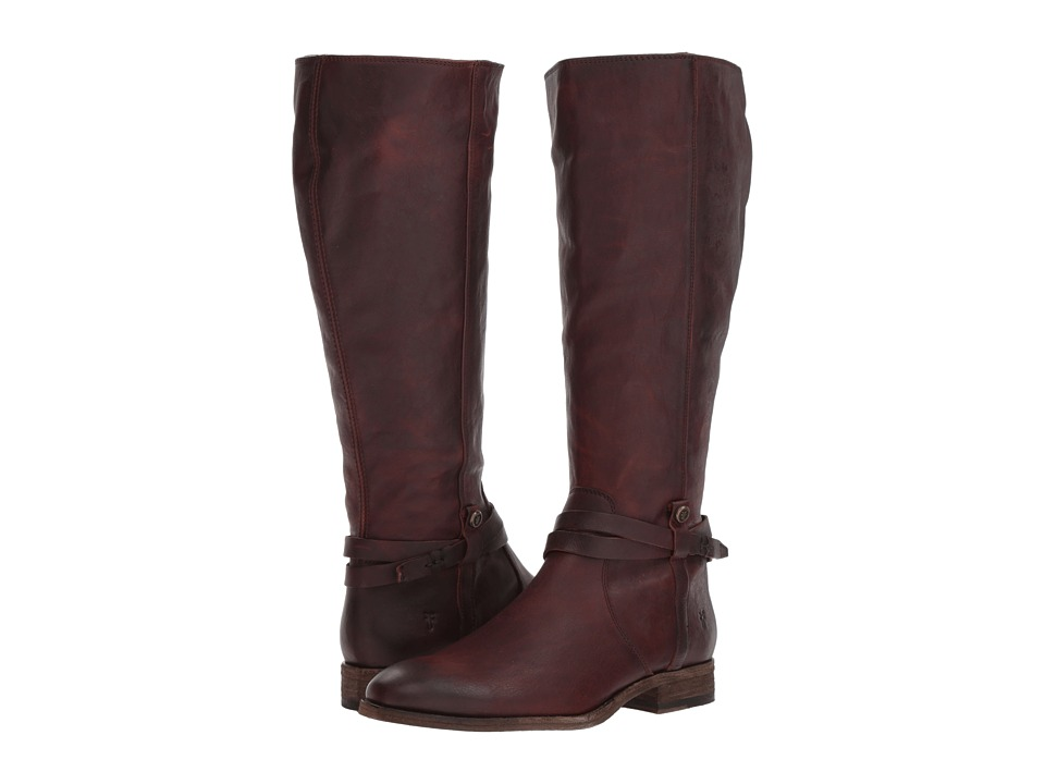 Frye Melissa Belted Tall (Redwood Extended Washed Oiled Vintage) Women's  Boots