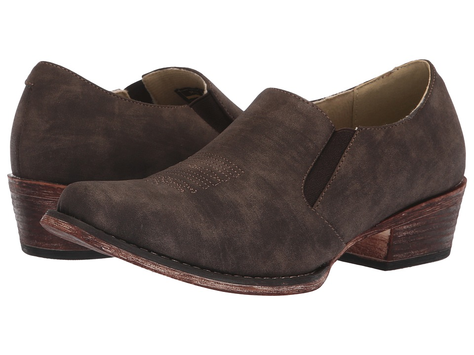 Roper Birkita Classic (Vintage Brown Faux Leather) Women's Pull-on Boots