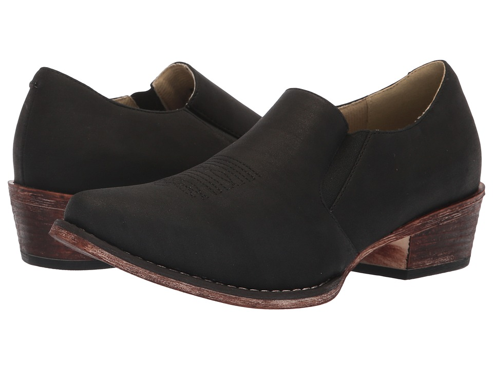 Roper Birkita Classic (Vintage Black Faux Leather) Women's Pull-on Boots