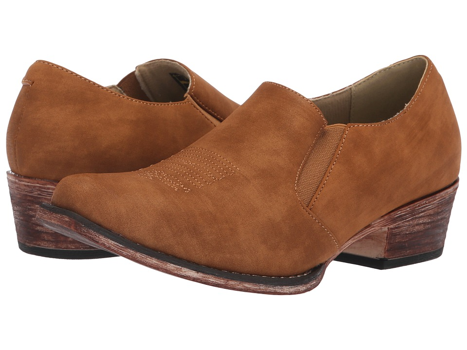 Roper Birkita Classic (Vintage Tan Faux Leather) Women's Pull-on Boots