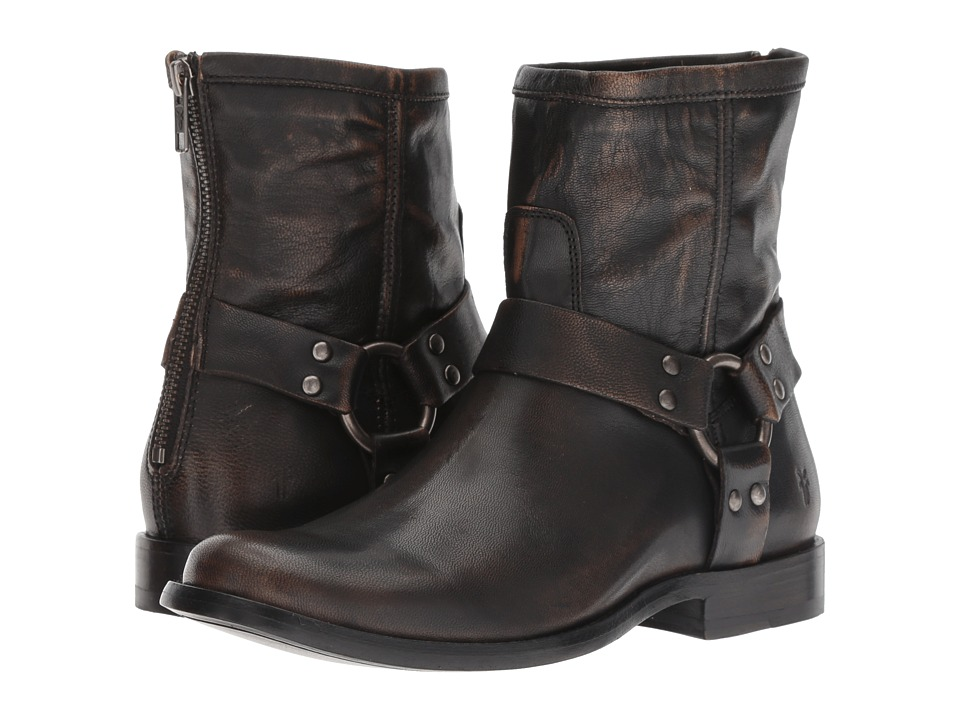 Frye Phillip Harness Short (Dark Brown Brush-Off)