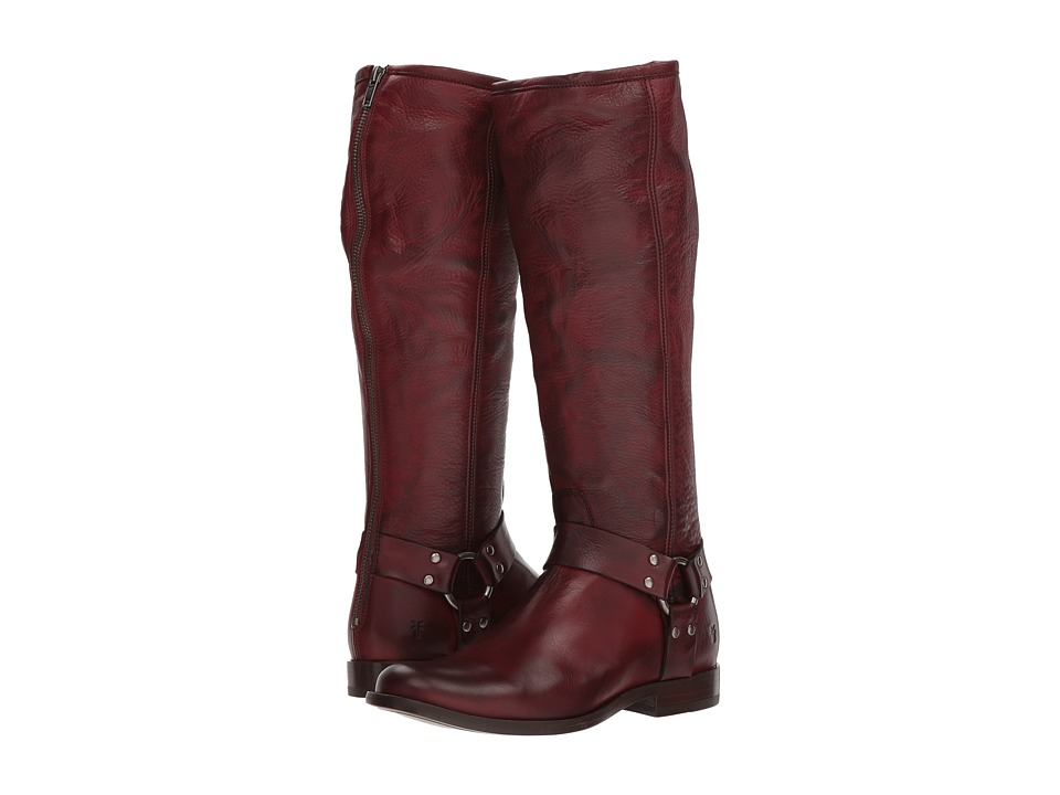 Frye Phillip Harness Tall (Burnt Red Soft Vintage Leather) Women's First Walker Shoes