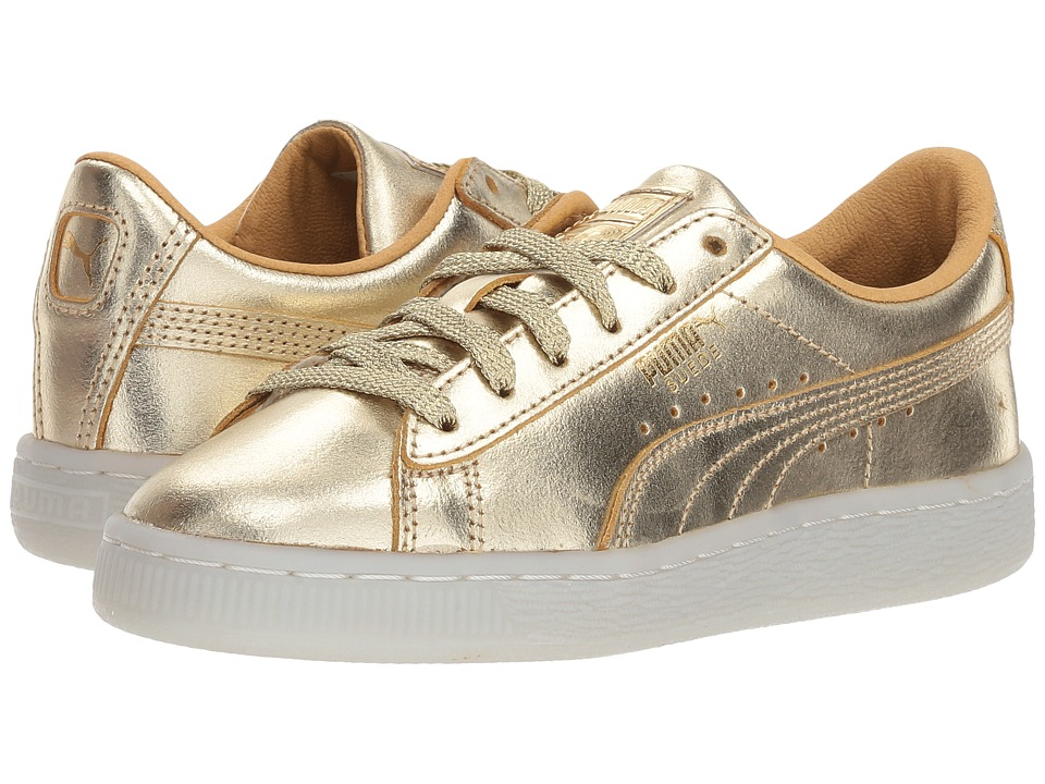 Puma Kids - Suede 50th Gold (Little Kid) (Gold) Kids Shoes