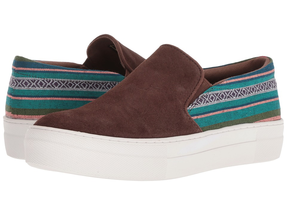 Roper Darcy (Brown Suede Leather Vamp/Woven Stripes) Slip-On Shoes