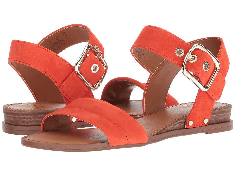 Franco Sarto - Patterson (Festa Orange Kid Suede Leather) Womens Sandals