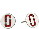 Marc Jacobs Marc Jacobs Double J Pave Studs Earrings