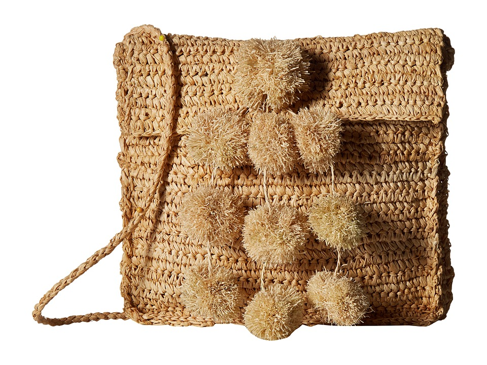 Hat Attack - Everyday Crossbody with Mini Poms (Natural/Neutrals) Cross Body Handbags