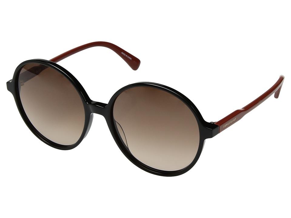 Longchamp - LO607SL (Black/Brown) Fashion Sunglasses