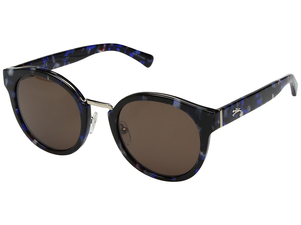 Longchamp - LO603SL (Blue Tortoise/Brown) Fashion Sunglasses