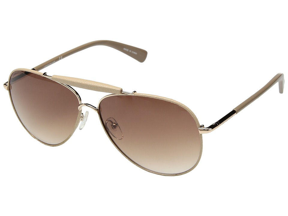 Longchamp - LO100SLL (Rose Gold/Nude/Brown) Fashion Sunglasses