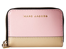 Marc Jacobs Saffiano Metal Letters Mini Zip Card Case