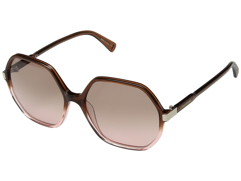 Longchamp - LO613SL (Brown/Rose/Pink) Fashion Sunglasses