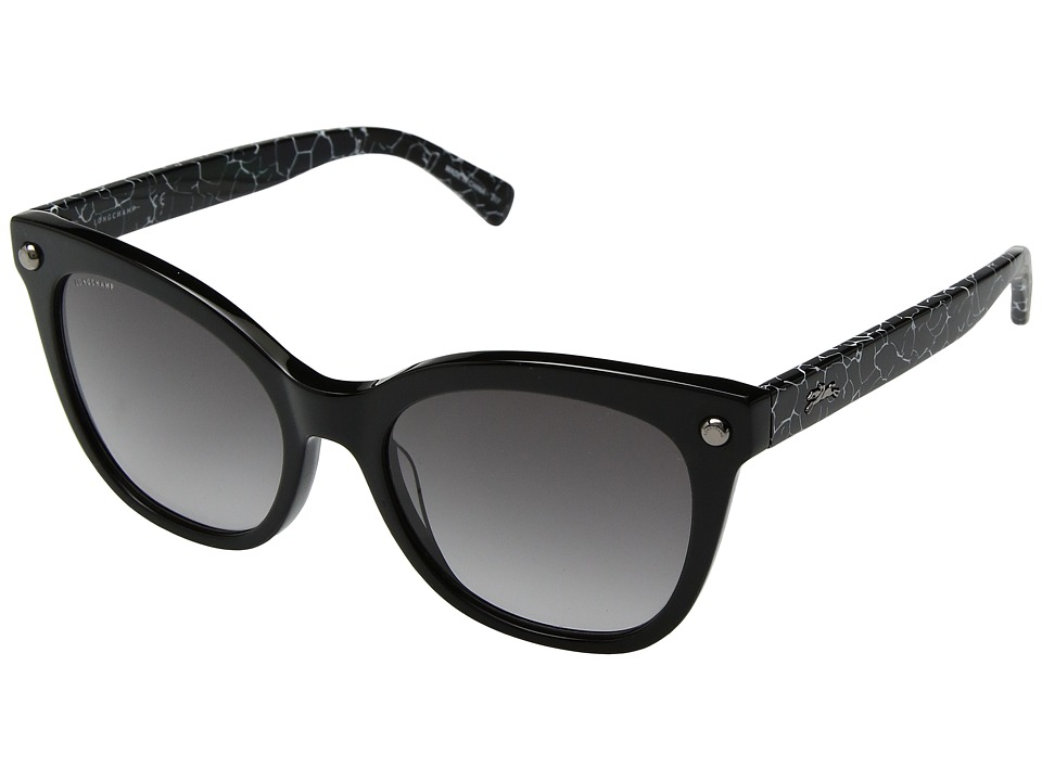 Longchamp - LO615SL (Black/Grey) Fashion Sunglasses