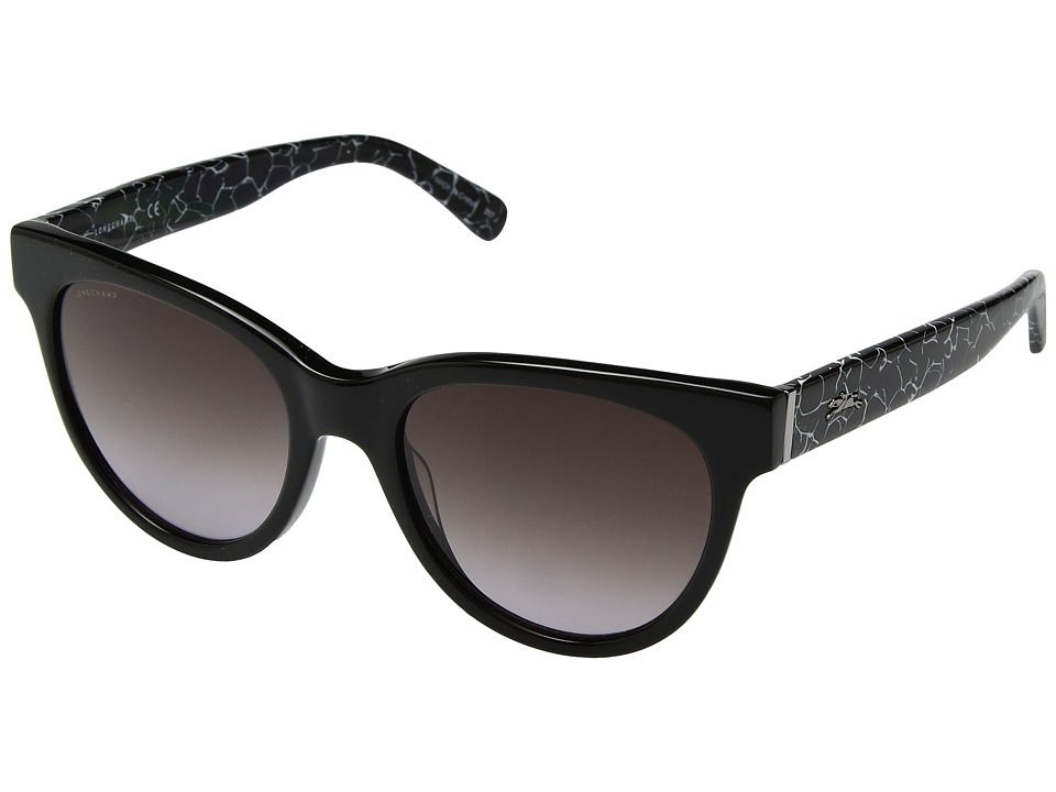 Longchamp - LO602SL (Marble Black/Grey) Fashion Sunglasses