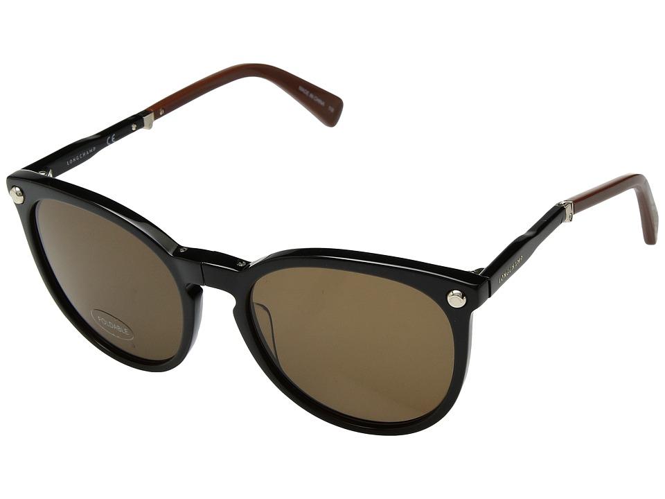 Longchamp - LO608SL (Black/Brown) Fashion Sunglasses