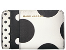 Marc Jacobs Marc Jacobs Saffiano Metal Letters Polka Dot Compact Wallet