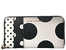 Marc Jacobs Marc Jacobs Saffiano Metal Letters Polka Dot Standard Continental Wallet