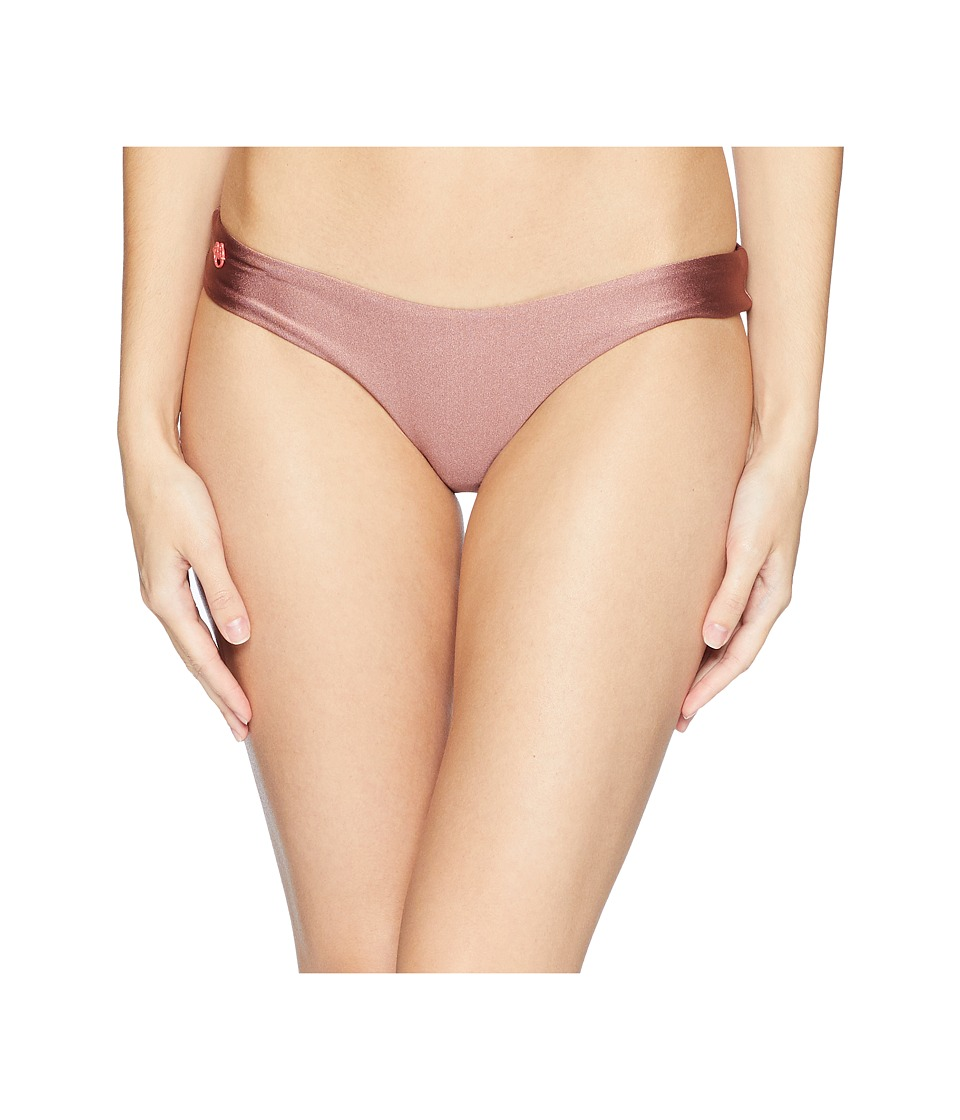 Maaji - Shimmering Cascade High Leg Cheeky Cut Bottom (Cognac) Womens Swimwear