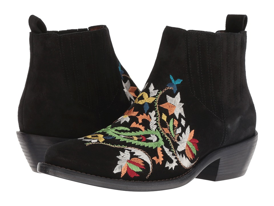 Etro Embroidered Suede Boot (Black)