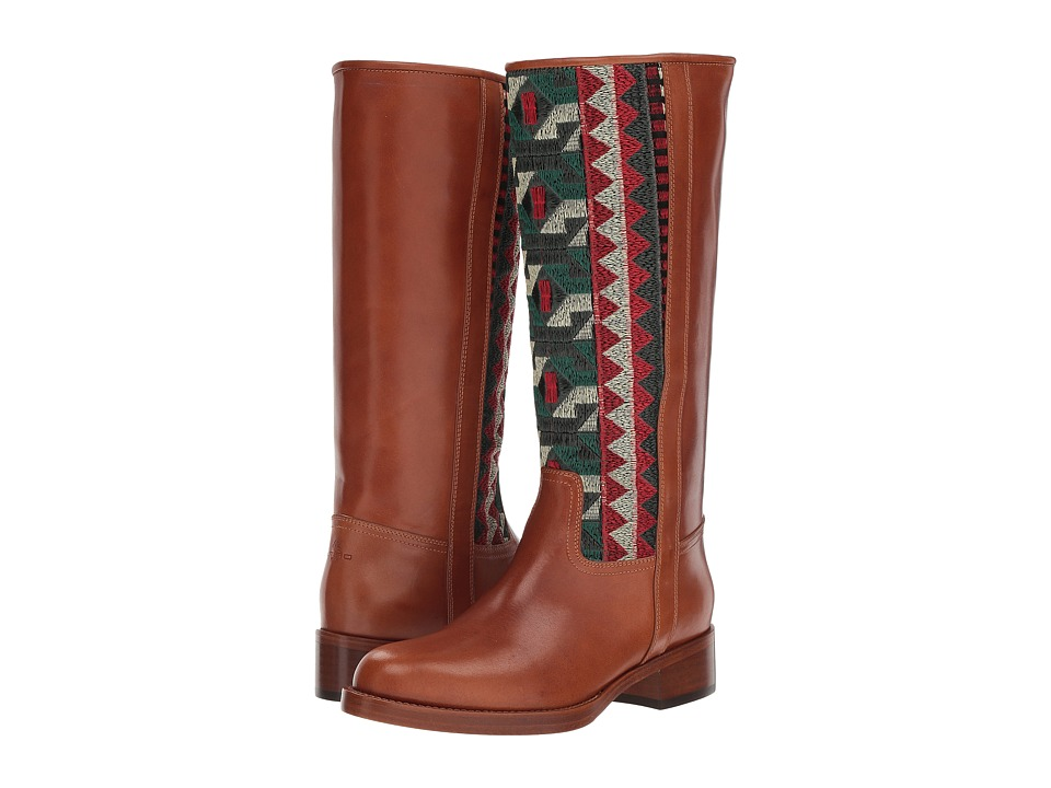 Etro Embroidered Tall Boot (Camel)