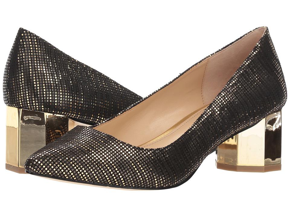 Katy Perry The Lorenna (Black/Gold Circle Metallic) Women's Shoes