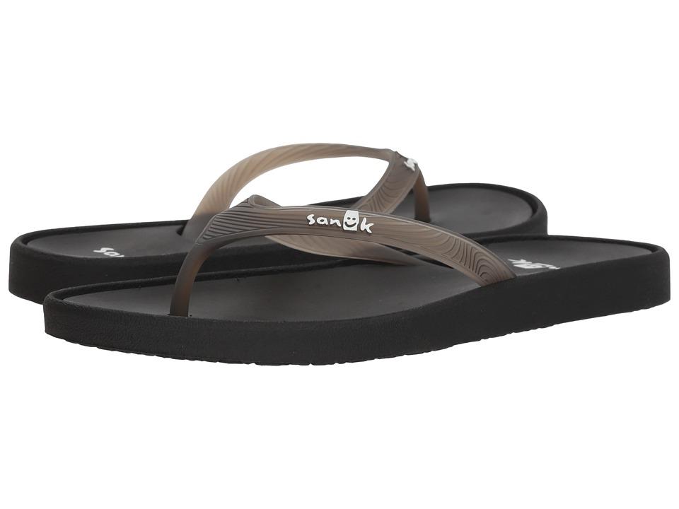 Sanuk Sidewalker (Black) Sandals