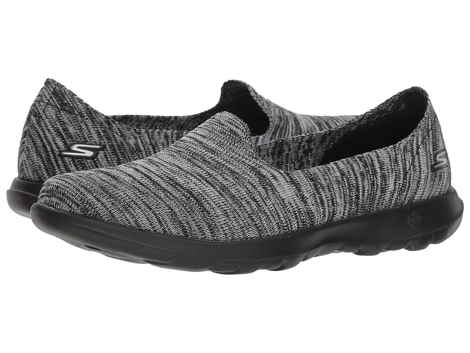 SKECHERS Performance - GOwalk Lite - Sweet Pea (Black/Gray) Womens Slip on  Shoes