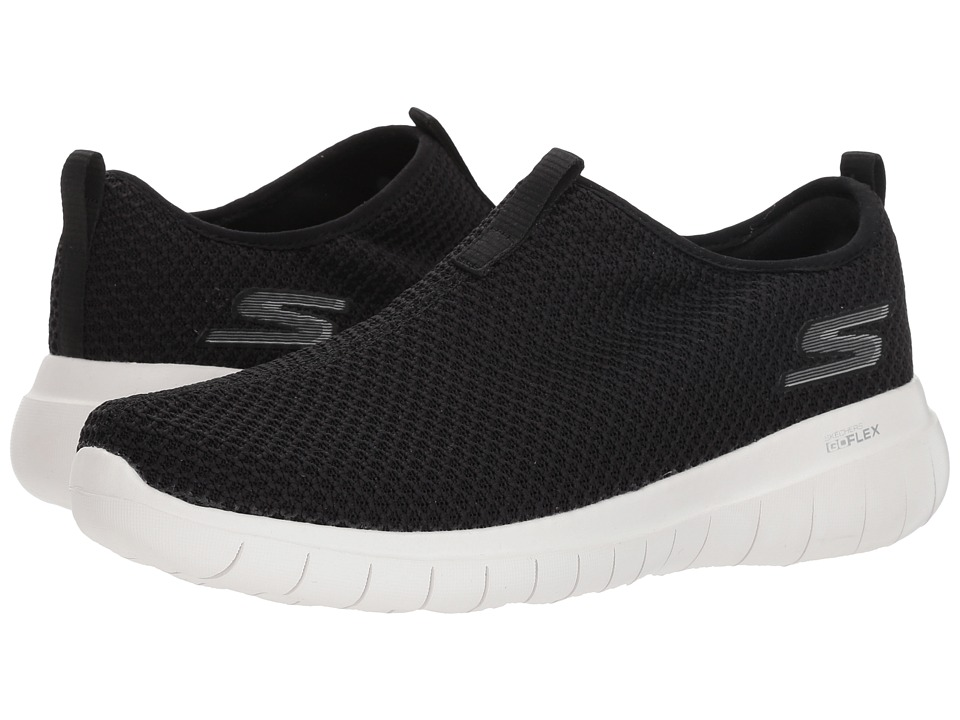SKECHERS Performance - GO FLEX Max - Horizon (Black/White) Womens Slip on  Shoes