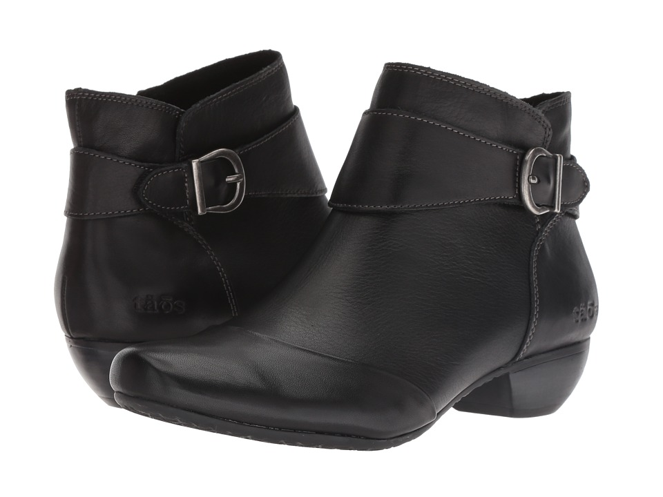 Taos Footwear Addition (Black Leather) Women's Shoes