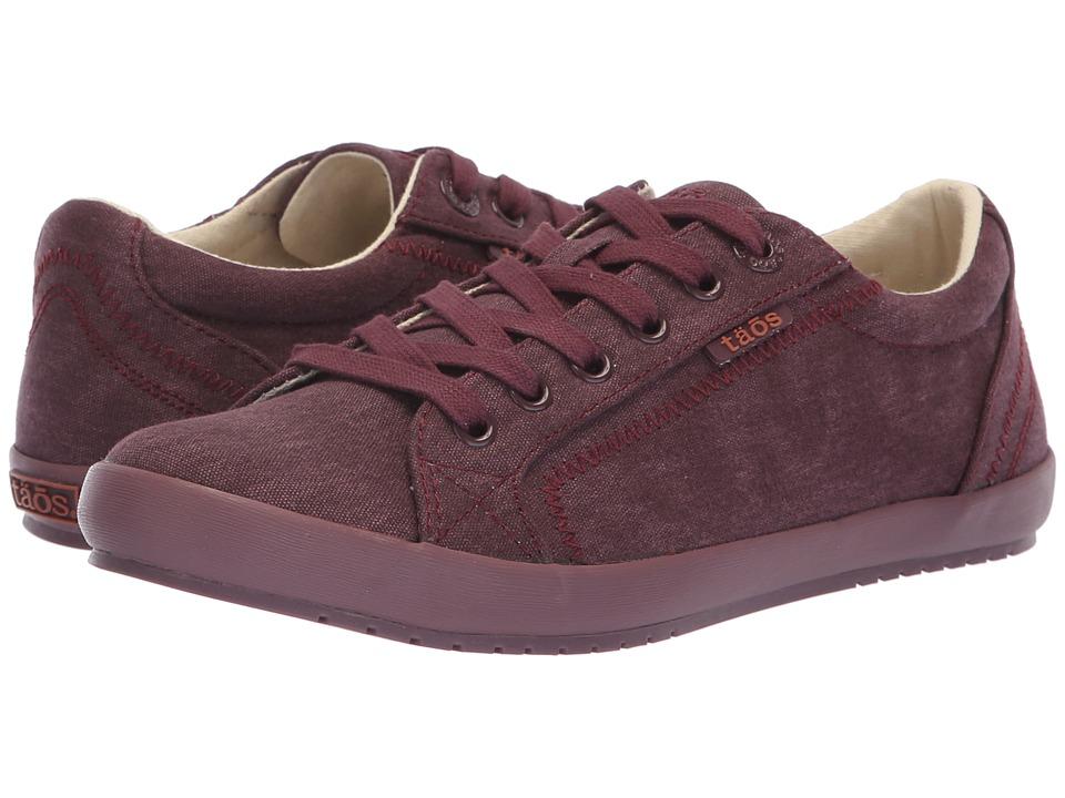 Taos Footwear Star (Bordeaux/Bordeaux Tone on Tone Solid Canvas)