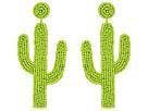 Kenneth Jay Lane 4 Saguaro Cactus Seed Bead Post Earrings