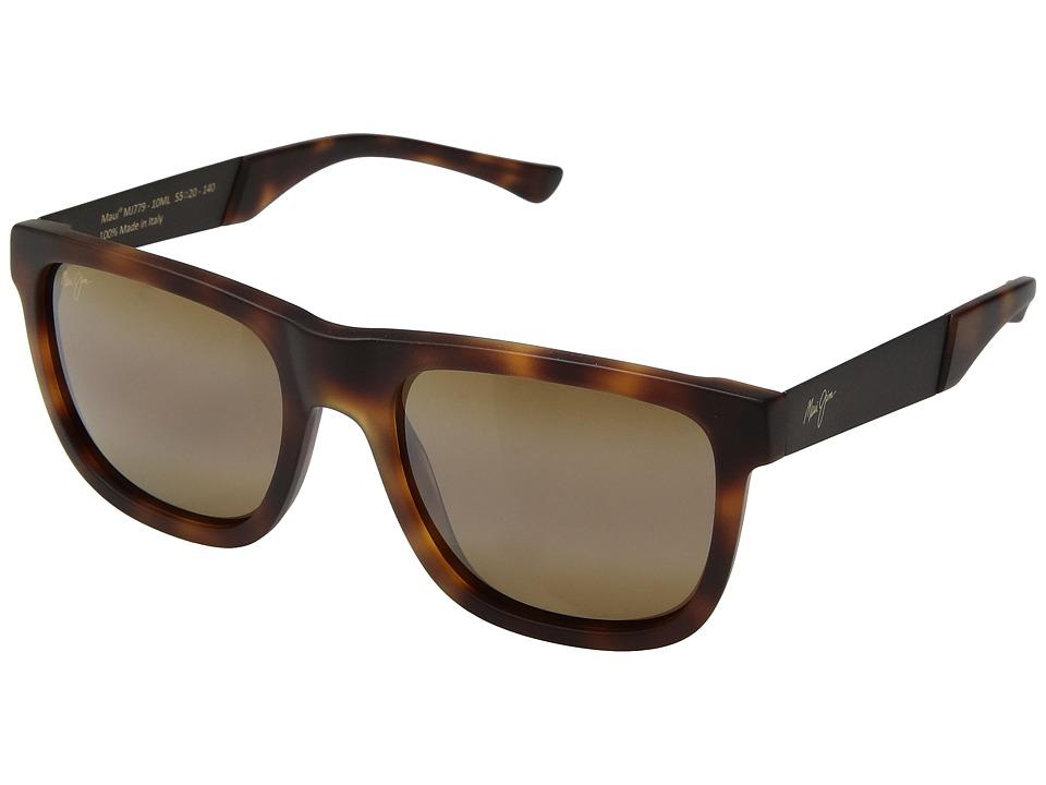 Maui Jim - Talk Story (Matte Tokyo Tortoise/HCL Bronze) Athletic Performance Sport Sunglasses