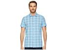 Calvin Klein Calvin Klein Short Sleeve Stretch Seersucker Plaid Shirt