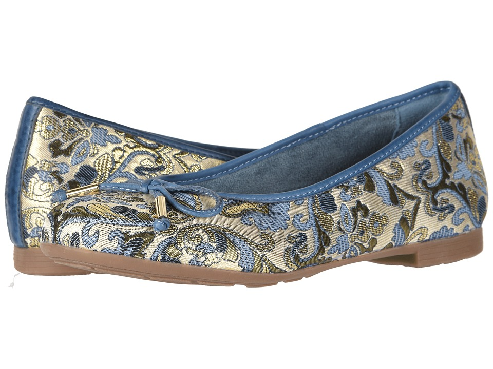 Earth Alina (Blue Multi/Floral Metallic Leather) Women's Shoes