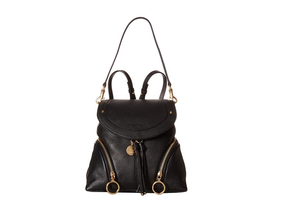 See by Chloe Olga Medium Backpack (Black) Backpack Bags