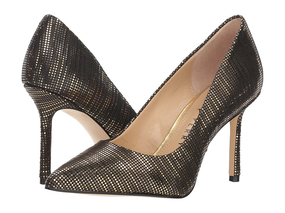 Katy Perry The Sissy (Black/Gold Metallic Circle) Women's Shoes