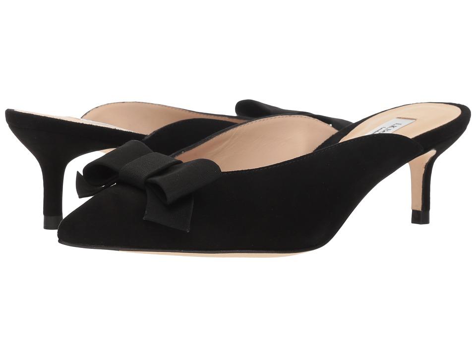 L.K. Bennett Seren (Black/Bronze Suede/Velvet) 1-2 inch heel Shoes