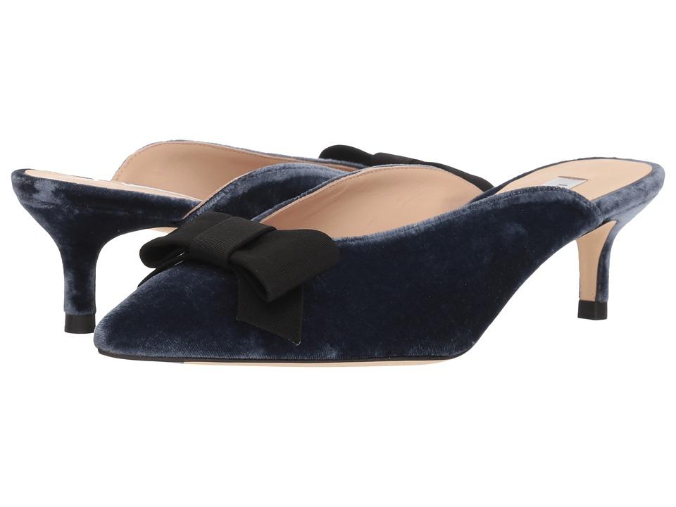 L.K. Bennett Seren (Powder Blue/Black Velvet/Grosgrain) 1-2 inch heel Shoes