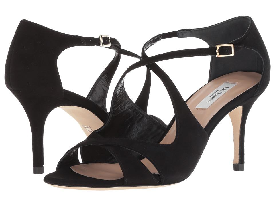 L.K. Bennett Blossom (Black Suede) Sandals
