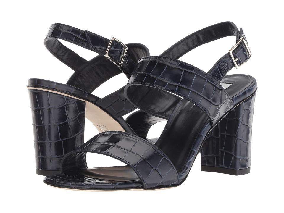 L.K. Bennett Rhiannon (Navy Croc Effect Leather) Women