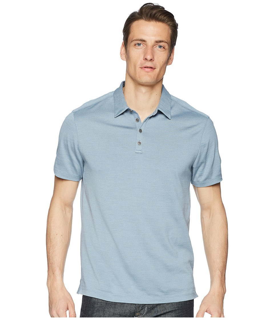 John Varvatos Collection - Hampton Polo K212U1 (Ocean Blue) Mens Short Sleeve Knit