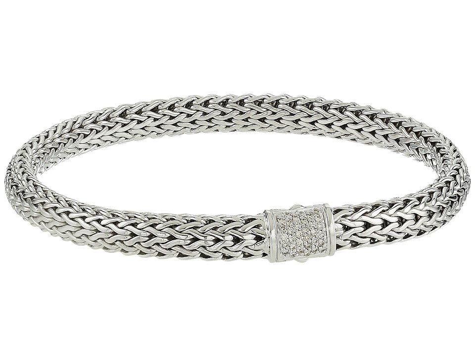 John Hardy - Classic Chain 6.5mm Bracelet with Diamonds (Silver) Bracelet