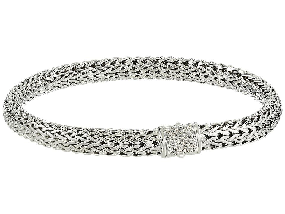 John Hardy - Classic Chain 6.5mm Bracelet with Diamonds (Silver) Bracelet
