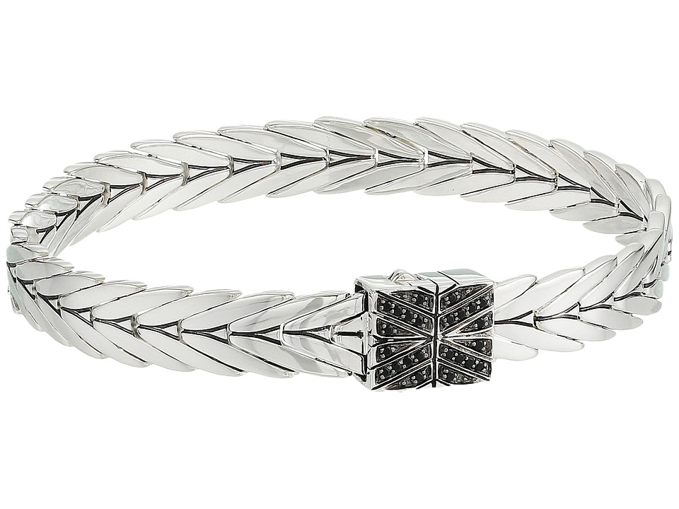 John Hardy - Modern Chain Bracelet 8mm with Black Spinel (Silver) Bracelet